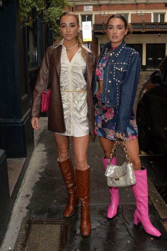 GEORGIA HARRISON and Best Friend Bella Out in London 08/21/2021
