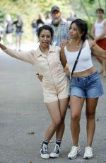 GINA RODRIGUEZ and LIZA KOSHY on the Set of Players in Brooklyn 08/02/2021