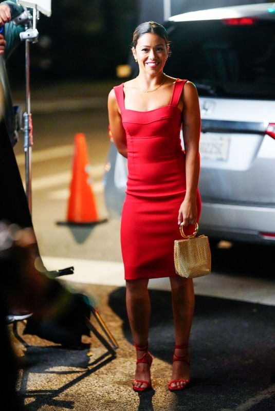GINA RODRIGUEZ on the Set of Players in New York 08/05/2021