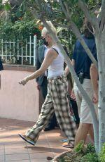 GWEN STEFANI Leaves Her Hotel in San Diego 08/24/2021