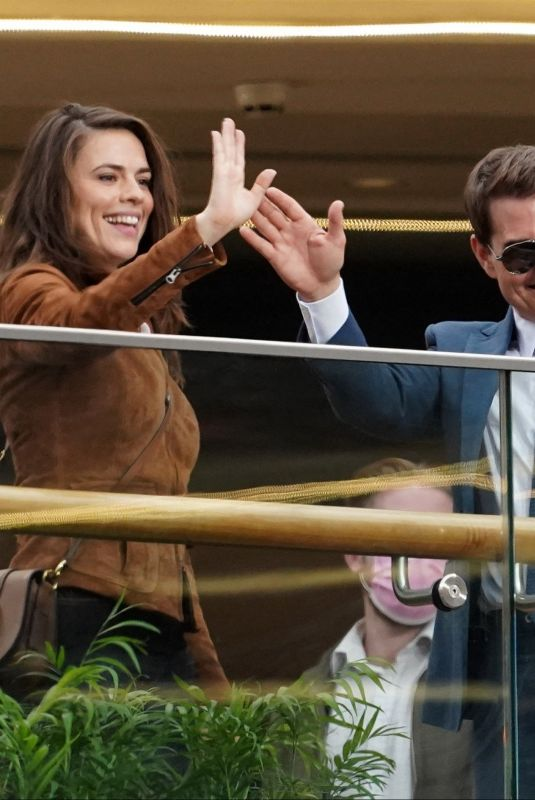 HAYLEY ATWELL and Tom Cruise on the Set of Mission Impossible 7 in Grand Central Shopping Centre in Birmingham 08/24/2021