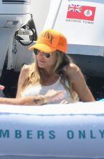 HEIDI and LENI KLUM in Bikinis at a Yacht in Capri 07/31/2021