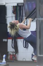 HILARY DUFF at Workout Session at a Gym in Los Angeles 08/06/2021