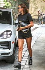IRINA SHAYK Arrives at Sunset Towers in Hollywood 08/19/2021