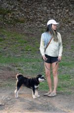 JAMIE CHUNG Out with her Dog in Los Angeles 08/24/2021