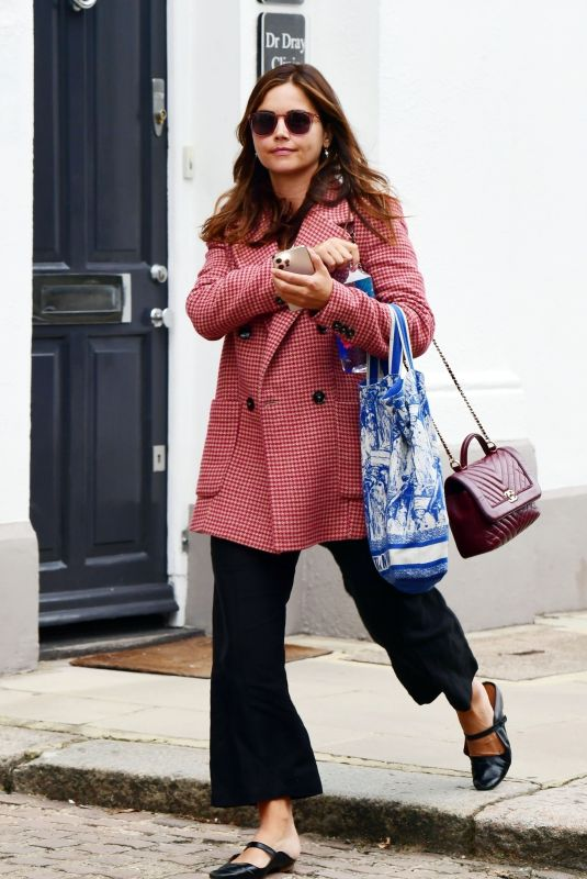 JENNA LOUISE COLEMAN Leaves Dr Dray's Clinic in London 08/05/2021
