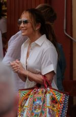 JENNIFER LOPEZ Out and About in Portofino 07/31/2021