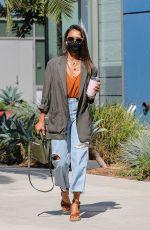 JESSICA ALBA in Ripeed Denim at Her Office in Santa Monica 08/10/2021