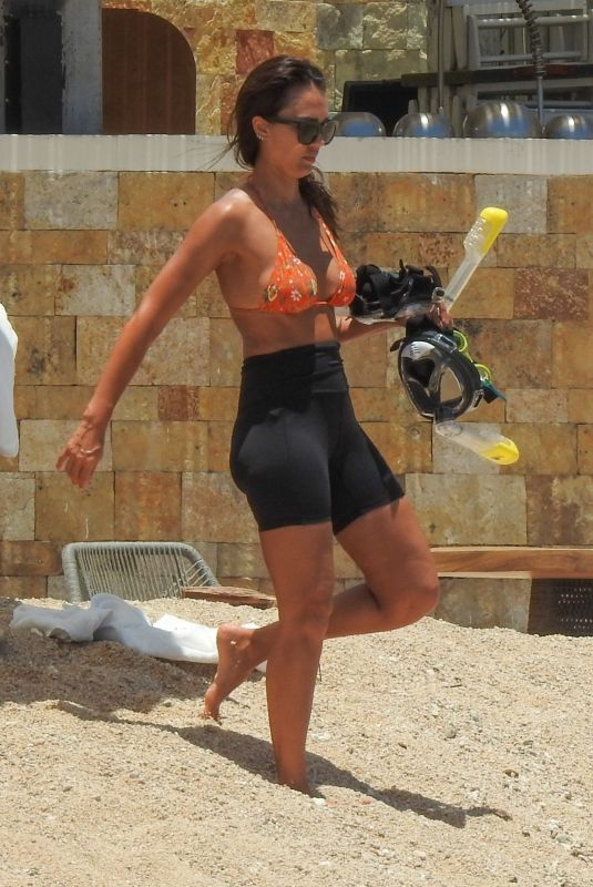 JESSICA ALBA Out at a Beach in Cabo San Lucas 08/08/2021