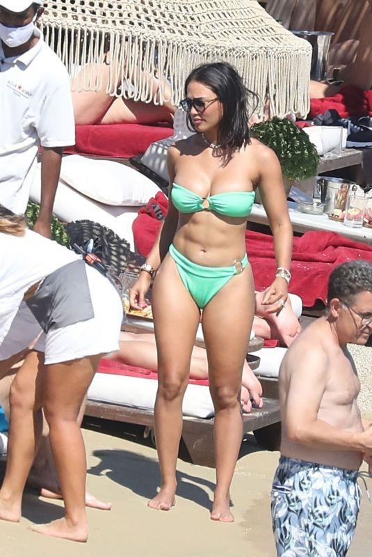 JESSICA LEDON in Bikini at a Beach in Mykonos 08/08/2021