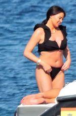 JESSICA WRIGHT in Bikini and William Lee-Kemp Out in Palma De Mallorca 07/29/2021