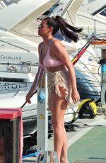 JESSICA WRIGHT in Bikini at a Boat in Palma De Mallorca 07/31/2021