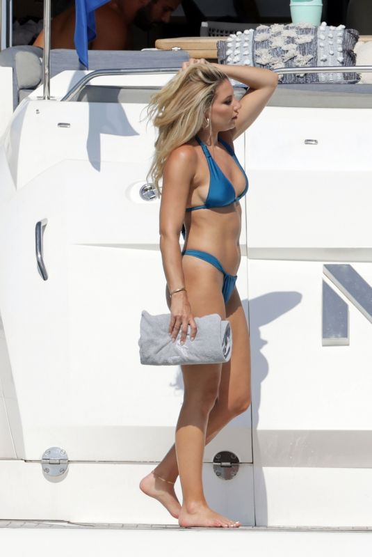 JESSIE JAMES and MELANIE COLLINS in Bikinis with Alex Rodriguez on Vacation in Ibiza 07/29/2021
