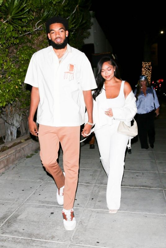 JORDYN WOODS and Karl Anthony Towns  at Matsuhisa in Beverly Hills 08/02/2021