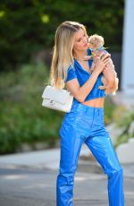 JOY CORRIGAN Out with Her Dog in Los Angeles 08/16/2021