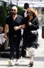 JULIA ROBERTS Out with Hairstylist Serge Normant in New York 08/07/2021
