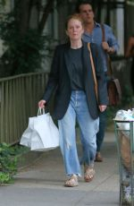 JULIANNE MOORE Out in New York 08/09/2021
