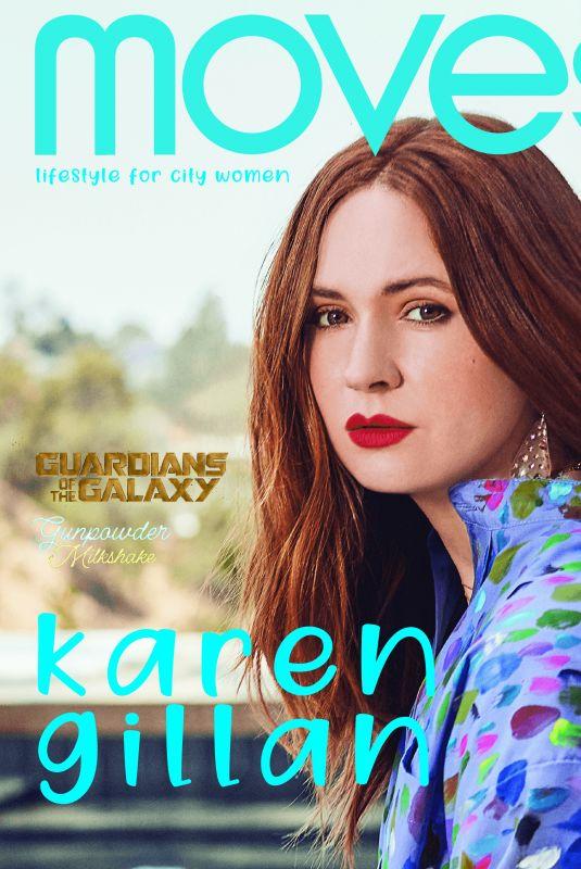 KAREN GILLAN in New York Moves Magazine, August 2021