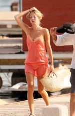 KATE and LILA GRACE MOSS Out in Ibiza 08/13/2021