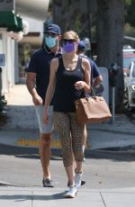 KATE UPTON and Justin Verlander Out in Santa Monica 08/03/2021