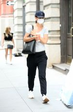 KATIE HOLMES Out for Morning Coffee in New York 08/03/2021