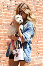 KELLY BENSIMON Out with Her Dog in New York 08/25/2021