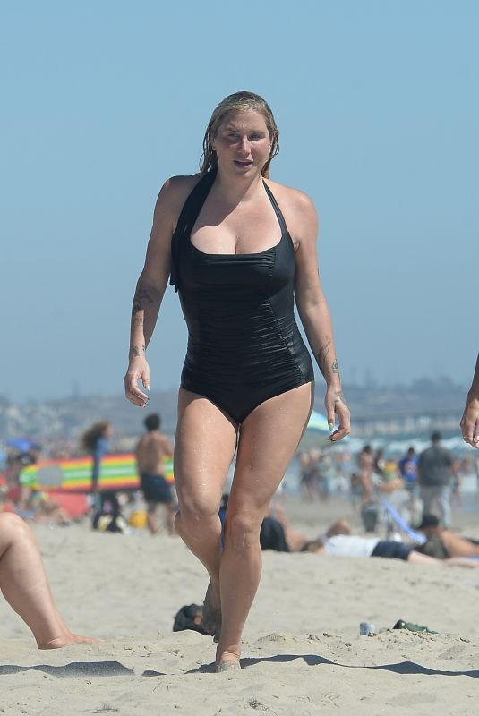 KESHA in Swimsuit at a Beach in Los Angeles 08/02/2021