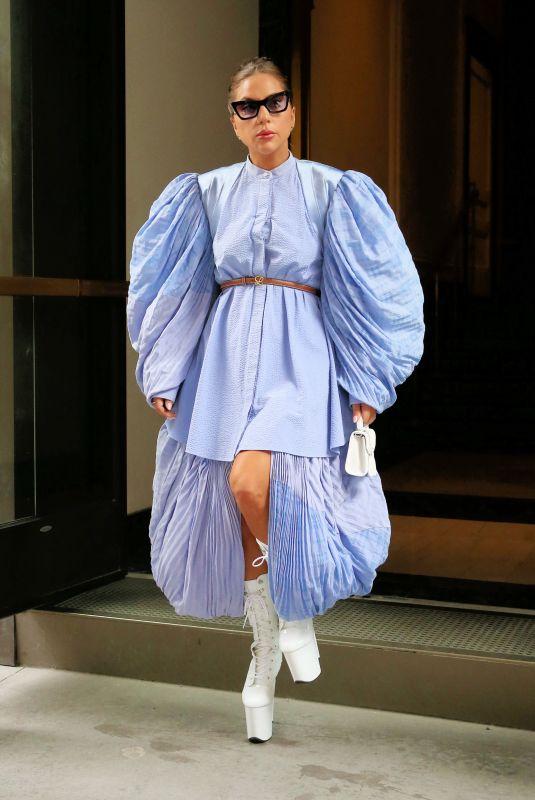 LADY GAGA Leaves Her Hotel in New York 08/04/2021