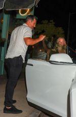 LEANN RIMES and Eddie Cibrian at Olivetta Restaurant in West Hollywood 08/19/2021