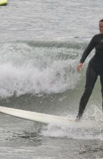 LEIGHTON MEESTER Out Surfing in Malibu 08/12/2021