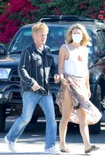 LEILA GEORGE and Sean Penn Out for Lunch in Malibu 08/01/2021