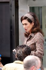 LENA HEADEY on the Set of The White House Plumbers in Millbrook 08/05/2021