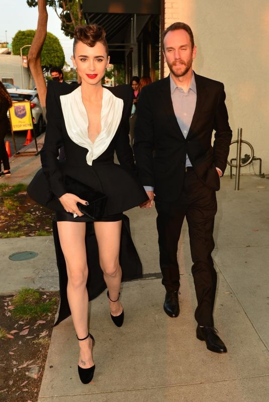 LILY COLLINS and Charlie McDowell at Cartier's Clash Unlimited Launch Party in West Hollywood 08/24/2021