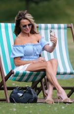 LIZZIE CUNDY Out at Hyde Park in London 08/04/2021