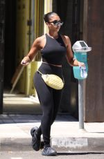 LORI HARVEY heading to Gym in West Hollywood 08/03/2021