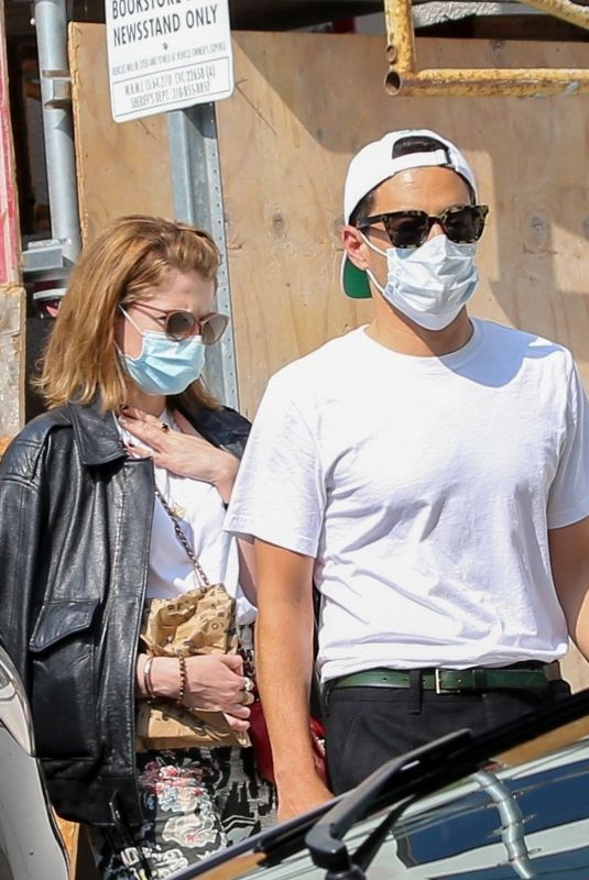 LUCY BOYNTON and Rami Malek at Book Soup Bookstore in West Hollywood 08/23/2021
