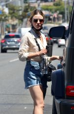 LUCY HALE in Denim Shorts Out in Los Angeles 07/31/2021