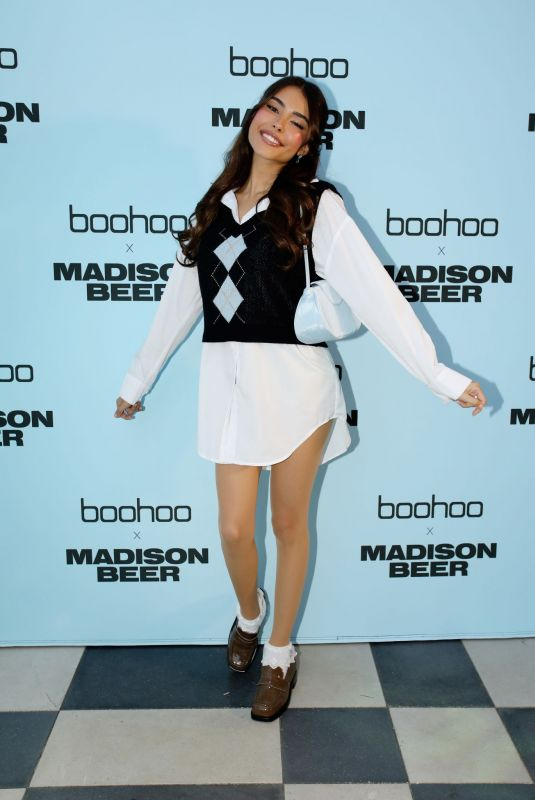 MADISON BEER at Boohoo x Madison Beer Launch in Los Angeles 08/02/2021