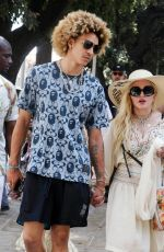 MADONNA Out with Family and Her Beau Ahlamalik Williams Celebrated Her 63rd Birthday in Lecce 08/17/2021