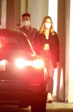 MARGOT ROBBIE and Rami Malek Out for Dinner in Beverly Hills 08/24/2021