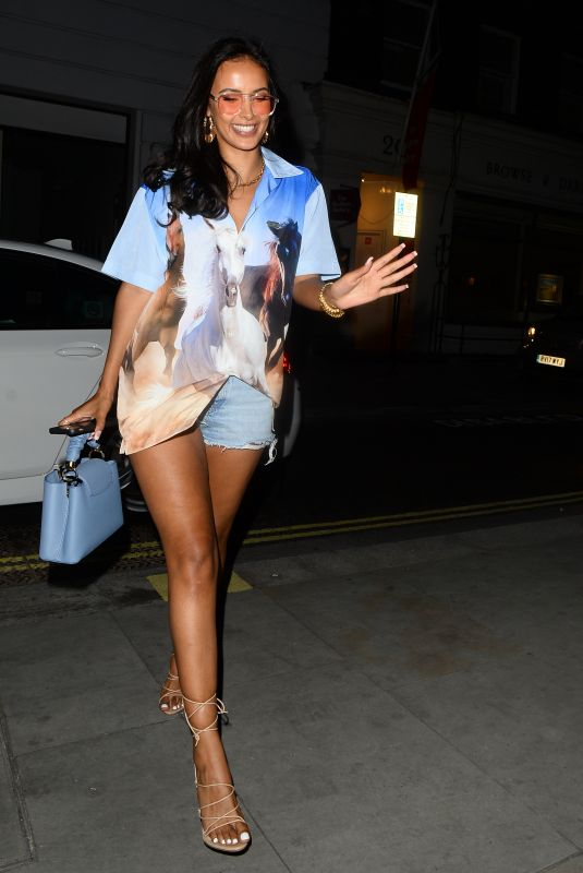 MAYA JAMA Out for Dinner at Stork in London 08/04/2021