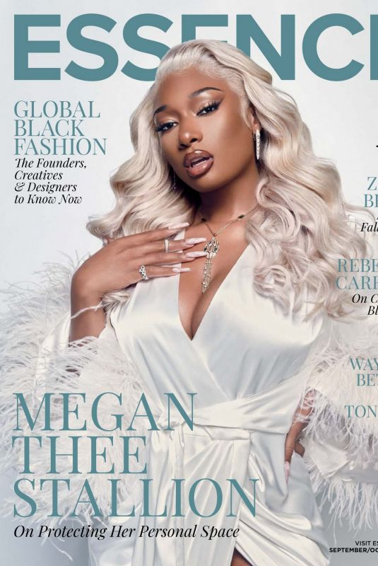 MEGAN THEE STALLION in Essence Magazine, September/October 2021