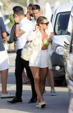 MELANIE COLLINS in Bikini and Alex Rodriguez on Vacation in Ibiza 07/29/2021