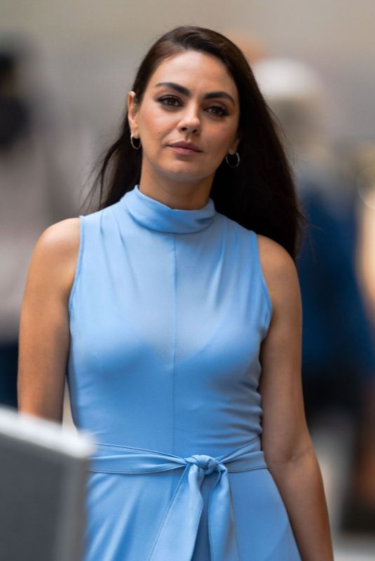 MILA KUNIS on the Set of The Luckiest Girl Alive in New York 08/29/2021