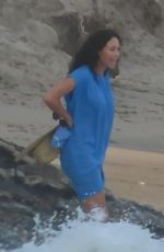 MINNIE DRIVER Out at a Beach in Los Angeles 08/19/2021