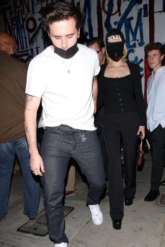 NICOLA PELTZ and Brooklyn Beckham at Craig's in West Hollywood 08/26/2021