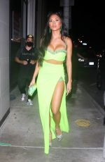 NICOLE SCHERZINGER Out for Dinner at Catch LA in West Hollywood 07/31/2021