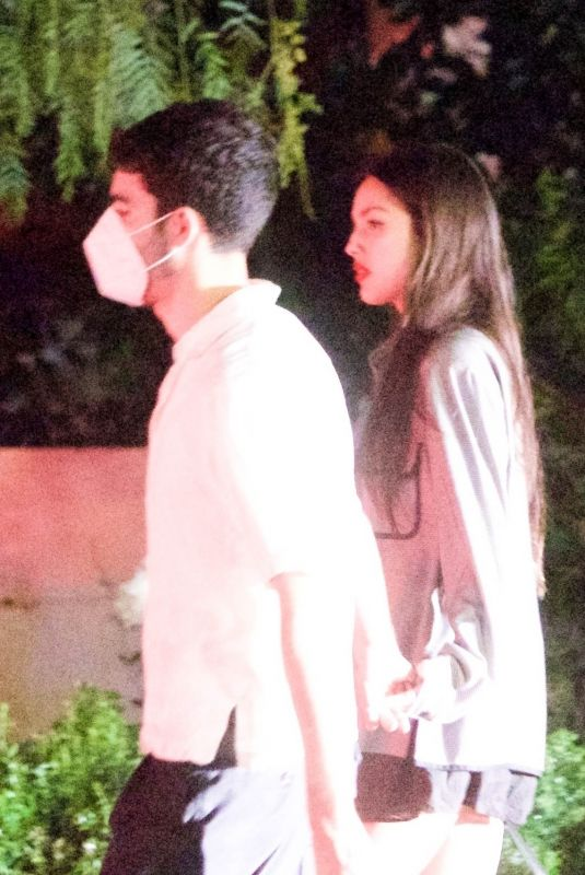 OLIVIA RODRIGO Noght Out with Her Boyfriend in Los Angeles 08/27/2021
