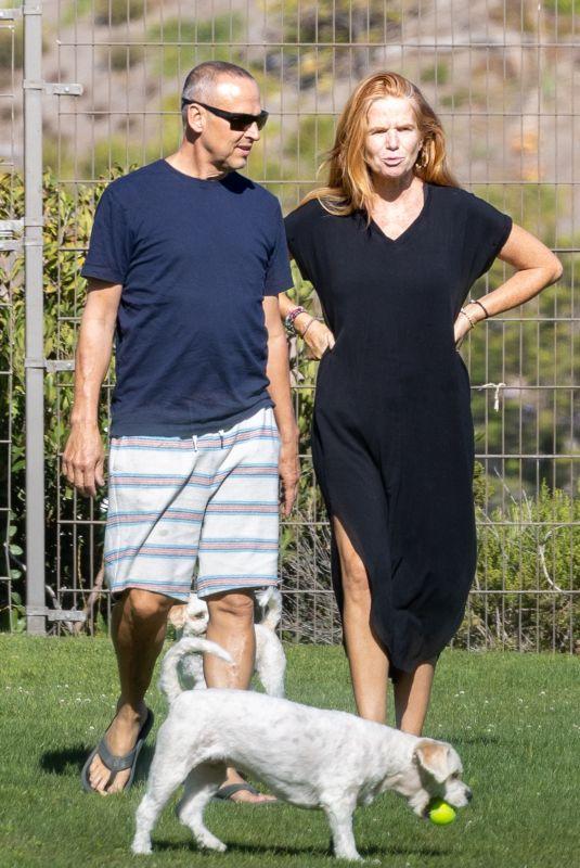 PATSY PALMER and Richard Merkell Out at a Dog Park in Malibu 08/02/2021