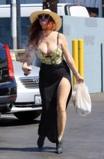 PHOEBE PRICE Out and About in Los Angeles 08/30/2021